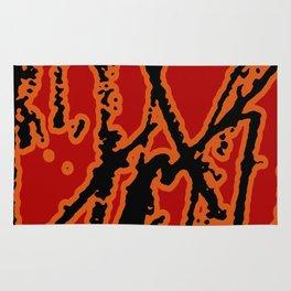 Vivid Abstract Grunge Texture Rug
