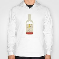 wine Hoodies featuring wine bottle by Marco Recuero