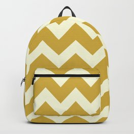 Yellow Mustard Chevron Backpack