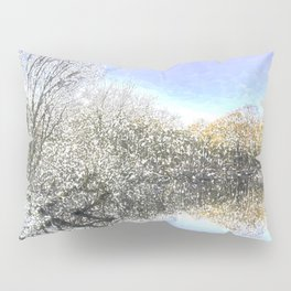 The Winters Day Pond Pillow Sham