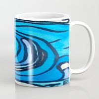 shell Mugs featuring Shell by Abstract Jack95