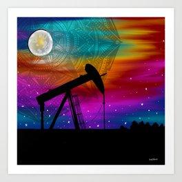 Pumpjack- Oilfield Strong Art Print