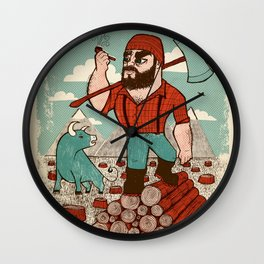 Paul Bunyan & Babe Wall Clock