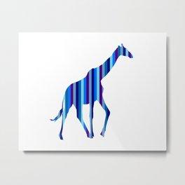 Bestriped Giraffe Metal Print
