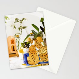 Tiger Reserve #painting #illustration #tigers #wildlife Stationery Cards