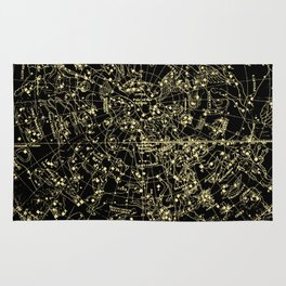 Astro Astronomy Constellations Astrologer Vintage Map Rug