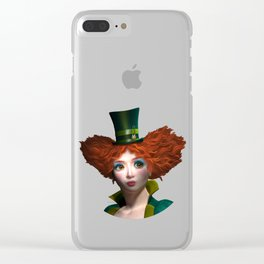 Madam Hatmaker Clear iPhone Case