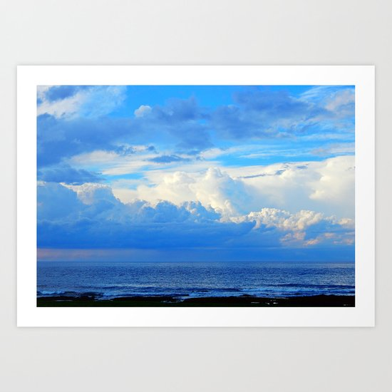 Clouds out at Sea Art Print