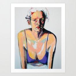 Portrait of Hannah Siegfried Art Print