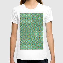 Moroccan Tile 1A - Blue T-shirt