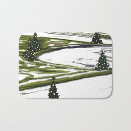 Enchanted garden Bath Mat