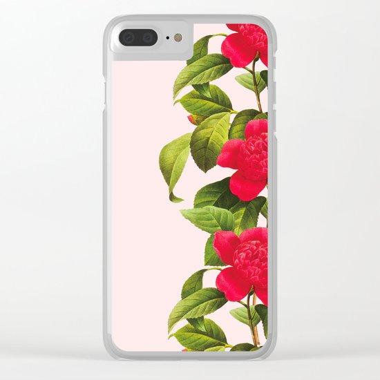 Botanical Light Kiss Clear iPhone Case