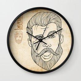Bearded Beauties 3 Wall Clock