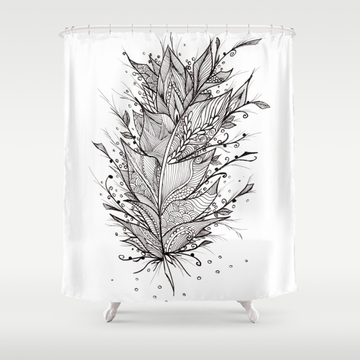 Mystic Feather Shower Curtain