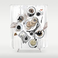 breakfast Shower Curtains featuring Breakfast by Ksenia Sapunkova