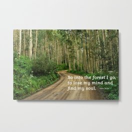 Into the Woods I Go To Find My Soul Metal Print