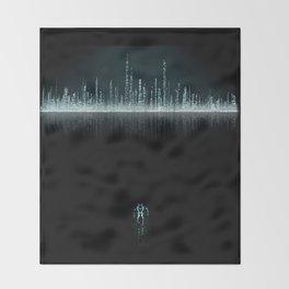 TRON CITY Throw Blanket