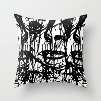 sam smith Throw Pillows featuring Sam  by Pascale Denning