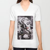 monroe V-neck T-shirts featuring Monroe by Ross Collins Artist