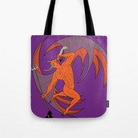 diablo Tote Bags featuring Garita del Diablo by Sanfeliu