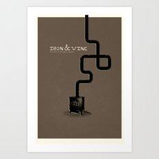 Iron & Wine Art Print