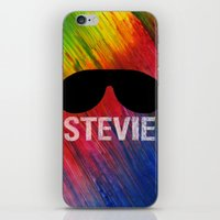stevie nicks iPhone & iPod Skins featuring STEVIE by Maenia