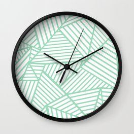 Abstract Lines Close Up Mint Wall Clock