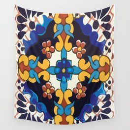 Colored Tile Mexican Talavera Wall Tapestry