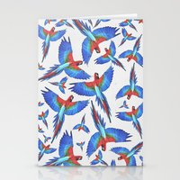 parrot Stationery Cards featuring Parrot. by Eleaxart