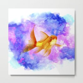 Watercolor Goldfish Metal Print