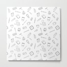 Art Supplies Metal Print