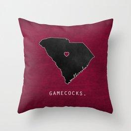 Gamecocks Throw Pillow