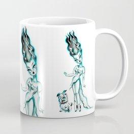 Bride of Frankenstein with Igor Bulldog Coffee Mug