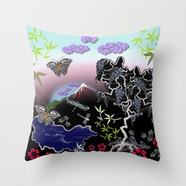 Asian Summer Throw Pillow