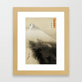 Dragon Rising to the Heavens Framed Art Print