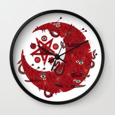The Blood Moon Compels You to Fuck Shit Up Wall Clock