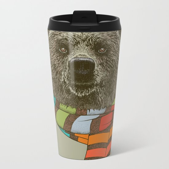 Winter Bear Metal Travel Mug