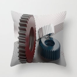 Precision mechanics Throw Pillow