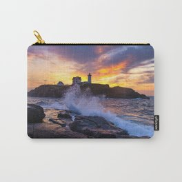 Mother Nature's Canvas- Nubble Lighthouse Sunrise Carry-All Pouch