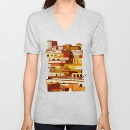 The fortress at sunset Unisex V-Neck