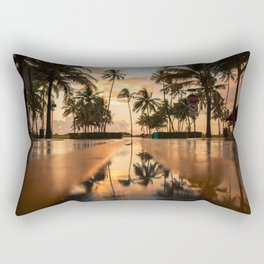 The Sunset Tropical Flood (Color) Rectangular Pillow