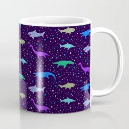 Underwater Dinosaurs (Dark Blue) Coffee Mug