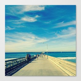 Pier Blue Canvas Print