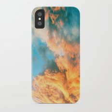 Blue Sunset Clouds  iPhone X Slim Case