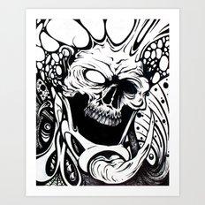 bio skull Art Print
