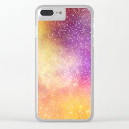 Cosmos #3 Clear iPhone Case