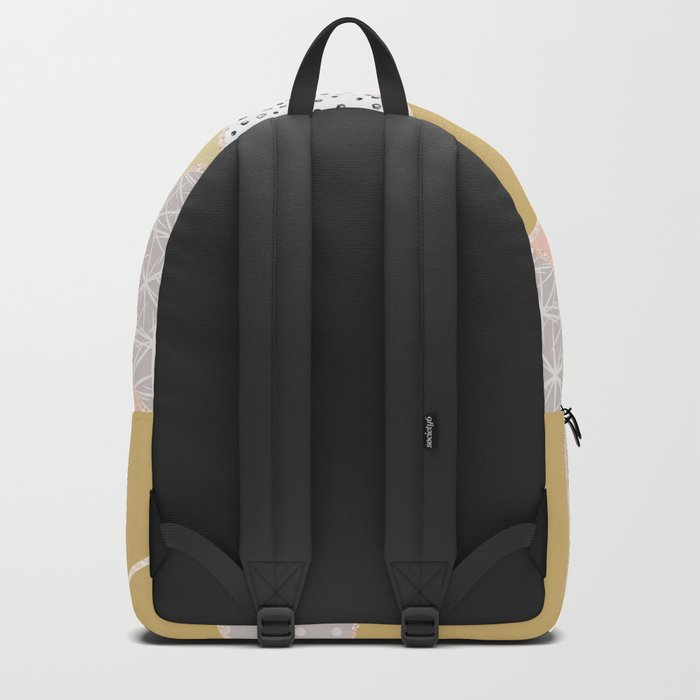 Abstract geometric pattern . Backpack