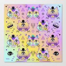 Galactic Cats  Canvas Print