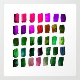 Brushstrokes 1t by Kathy Morton Stanion Art Print