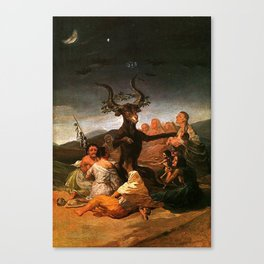 The Sabbath of witches - Goya Canvas Print